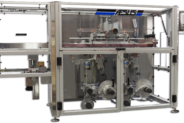 Aesus. Custom. Premier . Bottom Labeller. DualBottomPressureSensitiveLabeller
